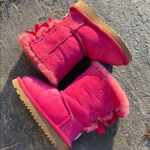 UGG Pink ❄️ Bailey Bow Toddler Boots AUTHENTIC!